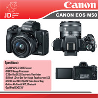 Canon EOS M50 Kit 15-45mm IS STM Black Promoo