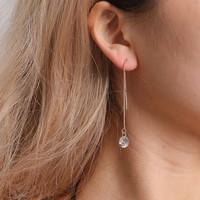 anting panjang long tassels zircon earrings jan223