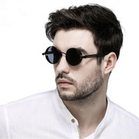 Kacamata Hitam Bulat Round Vintage Sunglasses