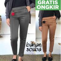 Celana Wanita Panjang Baggy Pants Bahan Scuba Baggi Pant Cewek Slim