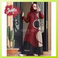 Baju Gamis Muslim Syari Wanita Pesta Remaja Terbaru Jelita Maxi Murah