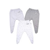 FLUFFY Celana Panjang Tutup Kaki Abu Newborn (Isi 3Pcs) Cka Nb