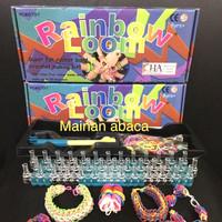 Rainbow Loom Bands / Bracelet Craft Kit / Mainan Merajut Karet Gelang