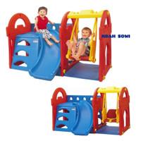 Paket Playground Lengkap Perosotan Dan Ayunan Anak Mainan TK Paud Baru