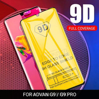 ADVAN G9 / G9 PRO TEMPERED GLASS FULL COVER 9D ANTI GORES KACA