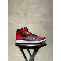 Nike AIR JORDAN 1 MID Bred Banned 2020 Original Authentic - 42
