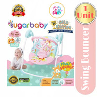 Sugar Baby Gold Edition Premium Swing Bouncer / bouncer bayi #03 - Merah Muda