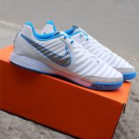 Sepatu Futsal Nike Tiempo X White Blue