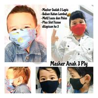 Masker Kain Anak Bayi 3 Ply Premium Masker Kain Anak 3 Lapis - RANDOMGIRL