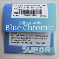 Lensa Essilor Elements Blue chromic Photochromic anti radiasi Ray SV