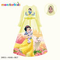 Gamis Snow White Anak Perempuan 5 - 13 Thn Baju Muslim Karakter KM-32E