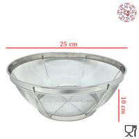 TLC Stainless Kitchen Bowl Strainer / Mangkuk Ayakan / Saringan 25 cm