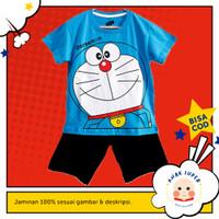Setelan Anak Lengan Pendek Motif Doraemon 1 - 10 Tahun