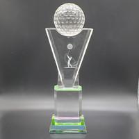 P31 Plakat kristal / Trophy Crystal kaca / Piala Golf / Piala Dunia