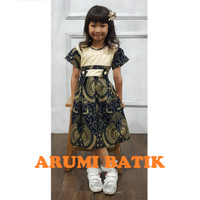 Dress Baju Batik Sekolah Anak Perempuan Balita TK SD PAUD BALITA 2906