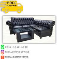 FREE ONGKIR Sofa L Putus Minimalis 100 kancing / SANCU MURAH TERBAIK !