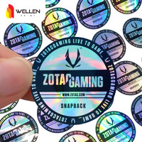 Cetak Sticker Hologram / Stiker Rainbow / Lebel Pelangi Custom