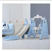 Playground kecil ayunan anak dan perosotan mainan anak balita dan TK