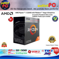 AMD Ryzen 3 3200G 4-Core 3.6GHz Radeon Vega 8 Graphics (Socket AM4)