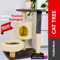 Cat Tree premium, elegan dan minimalis, bahan lembut dan struktur kuat