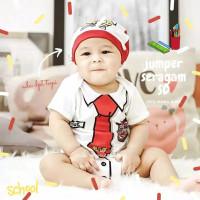 Jumper Bayi Lucu Baju Bayi Karakter Seragam Sekolah SD