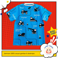 Baju/Kaos Anak Lengan Pendek Motif Beco Blue 1 - 10 Tahun