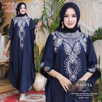 Baju Terusan Wanita Muslim Longdress New Nagita Kaftan