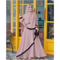 Baju Gamis Syari Set Hijab Muslim Wanita Dewasa Kekinian Murah Terbaru