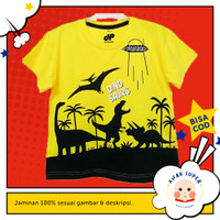 Baju anak laki-laki / Kaos anak laki-laki motif Dino Ufo 1-10 tahun