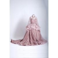 Baju Gaun Pengantin Jawa Modern pink vario