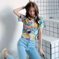 Girly Cute Trendy Crop Top Tee Baju Kaos Wanita Best Seller Shirt 4685