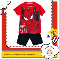 Kaos Anak Laki-Laki Setelan Lengan Pendek Motif Spiderman Face 1 - 10