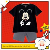 Baju anak / Setelan anak laki-laki motif Mickey Mouse Black 1-10 tahun - 1-2 tahun