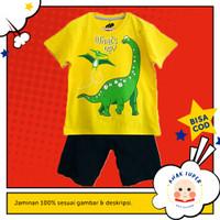 Setelan Baju/Kaos Anak Motif Dinosaurs What's up 1 - 10 Tahun