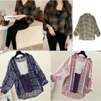 Outfit Nema | baju kemeja New girl Oversize RA | baju Wanita murah