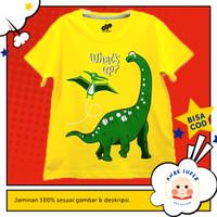 Baju/Kaos Anak Lengan Pendek Motif Dinosaurs What's Up 1 - 10 Tahun