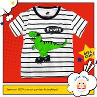 Baju/Kaos Anak Lengan Pendek Motif DINO TYREX 1 - 10 Tahun