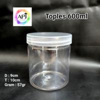 Toples Jar Plastik Tabung 600ml /Toples Cylinder 600m/ Toples Plastik