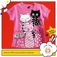 Baju/Kaos Anak Lengan Pendek Motif Group Cat 1 - 10 Tahun