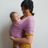 Basic lavender babywrap (gendongan bayi)