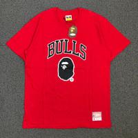 Kaos Bulls Bape 93 Red Maroon - M