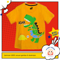 Baju anak laki-laki / Kaos anak laki-laki motif Dino Roar 1-10