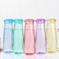 Botol Air Kaca Warna Crystal Diamond Sky Orange,