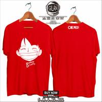 Kaos Baju MONKEY D LUFFY SMILE Kaos Anime One Piece - Gilan Cloth - S