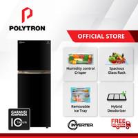 POLYTRON Belleza Big Liter Inverter 2 Doors Ref 300 Litres PRM 431X