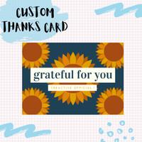 THANKS CARD TOKO OLSHOP CUSTOM MURAH  KARTU UCAPAN TERIMKASIH MURAH