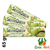Coklat SilverQueen Matcha Green Tea Cashew Nut 65 gr - Cokelat Bar