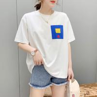 Baju Atasan Kaos Korea Box Color Import
