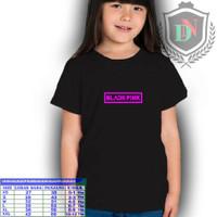 baju kaos anak perempuan / blackpink kpop carracter / kaos keren