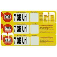 Voucher Data Indosat 7GB Unlimited